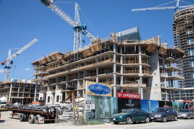 Ocean Club condos by Beaverhall and Graywood under construction in Toronto
