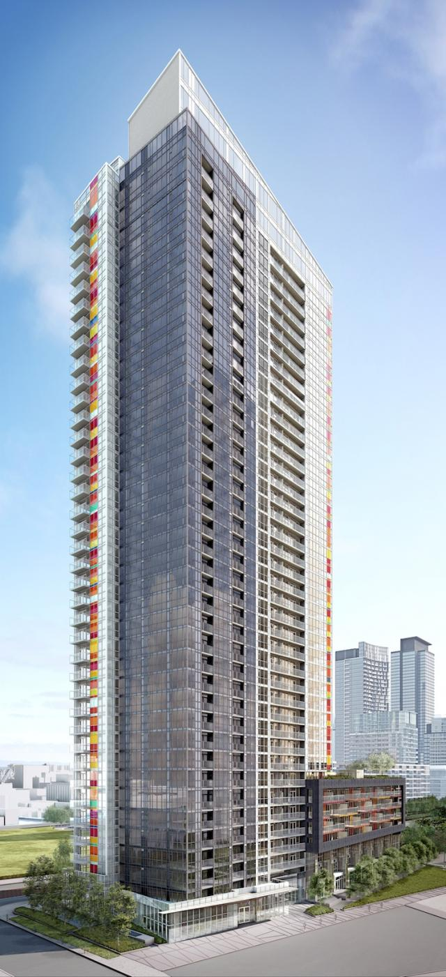 Rendering of Spectra condos Toronto by RAW Design at Concord CityPlace