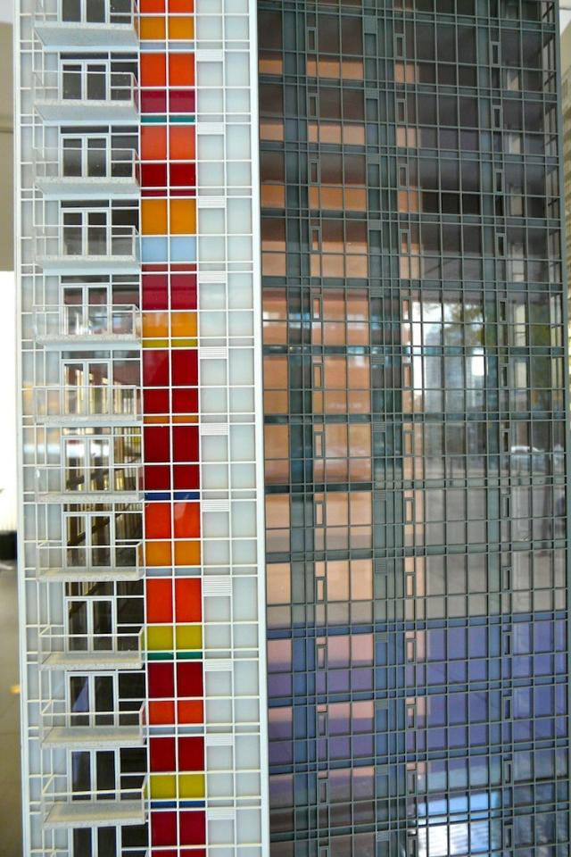 Scale model detail of Spectra condos Toronto at Concord CityPlace