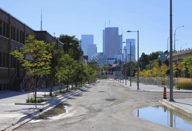Old Eastern Avenue as it looked on September 14, 2013, West Don Lands, Toronto