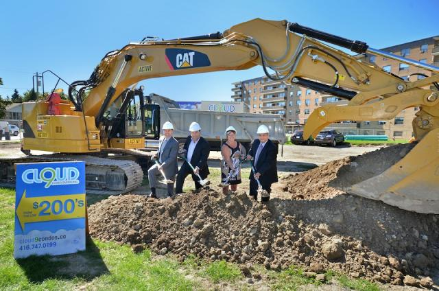 Ground-breaking at Cloud9 Condominiums in Etobicoke with Lash Group and Carttera