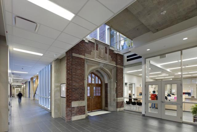 NTCI interior archway, courtesy of Heritage Toronto