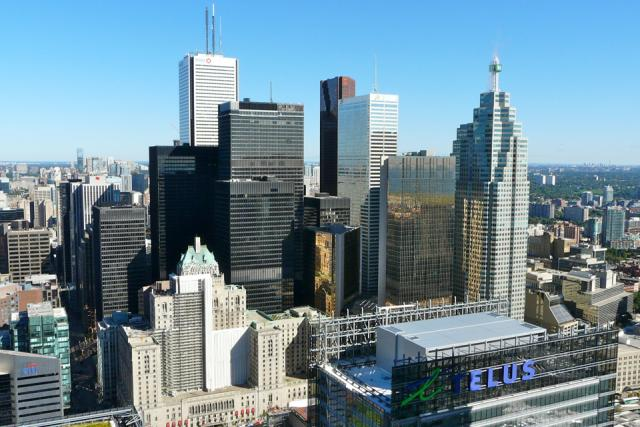 Toronto's Financial Core viewed from Ïce Condos, image by Craig White
