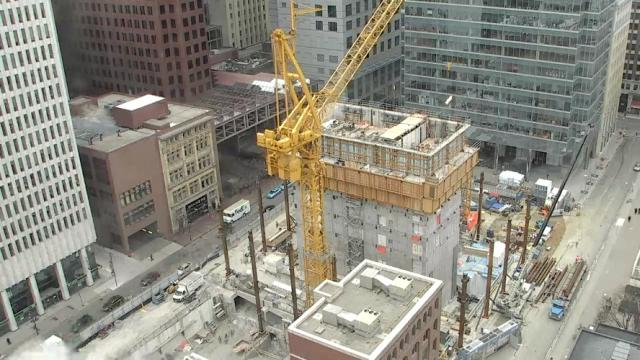 Webcam view of work on Bay Adelaide East, Toronto, December 11, 2013