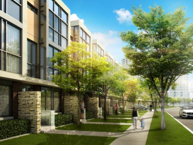 The Marquee Townhomes by Pinnacle International and Richmond Architects