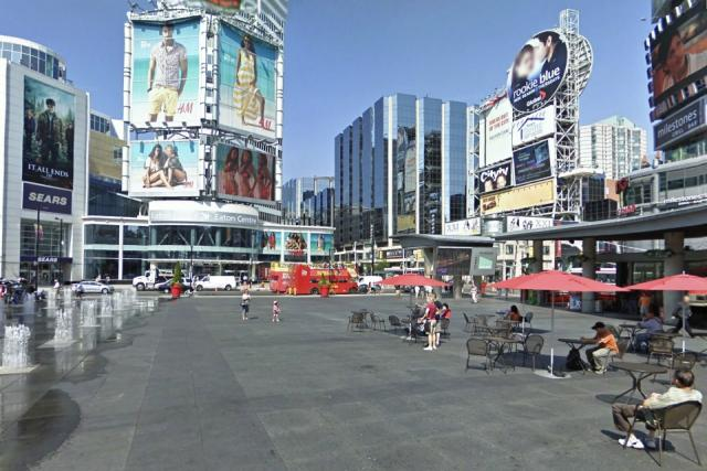 The Atrium on Bay as seen from Yonge Dundas Square, image from Google Street Vie