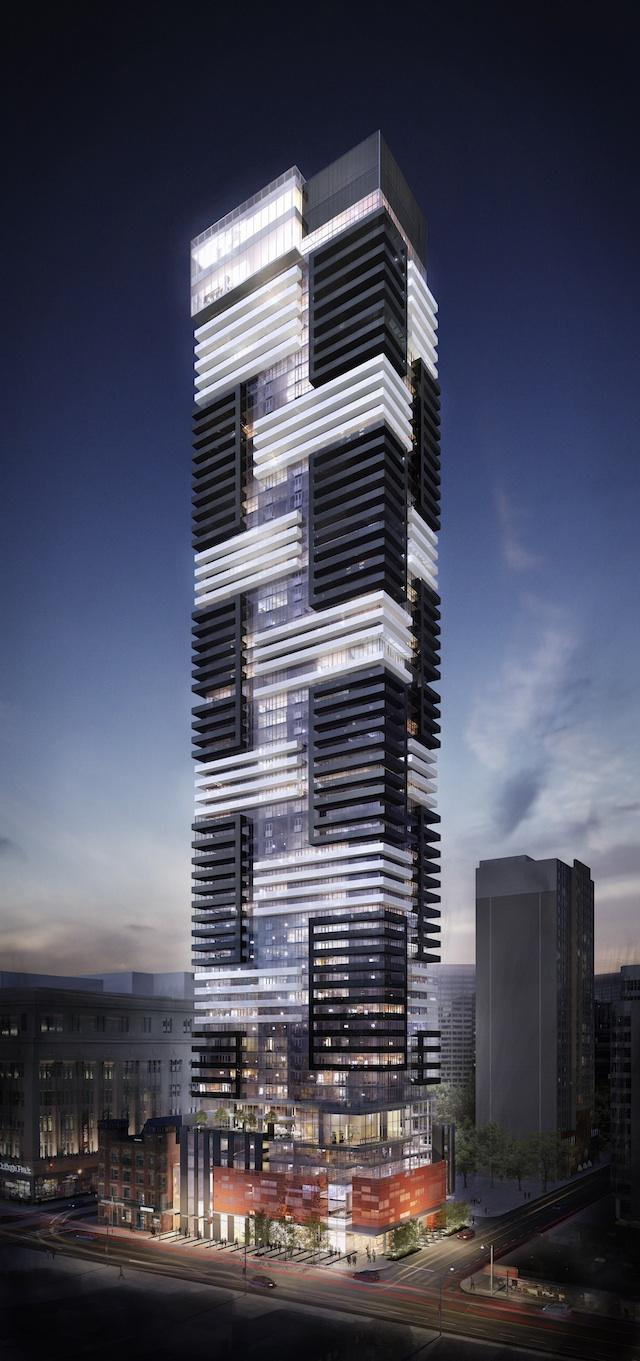 YC Condos Toronto, designed by Graziani + Corazza Architects for Canderel