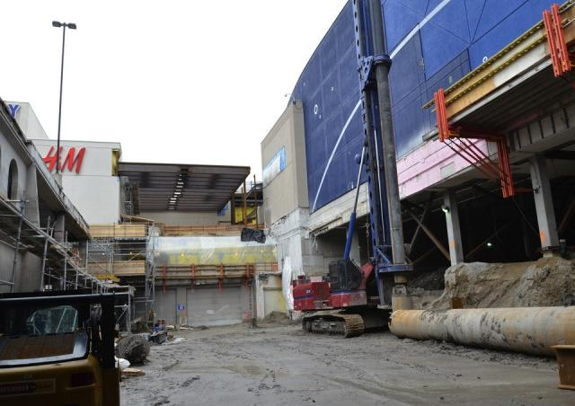Demolition has started on the parking deck at Yorkdale Mall, Toronto