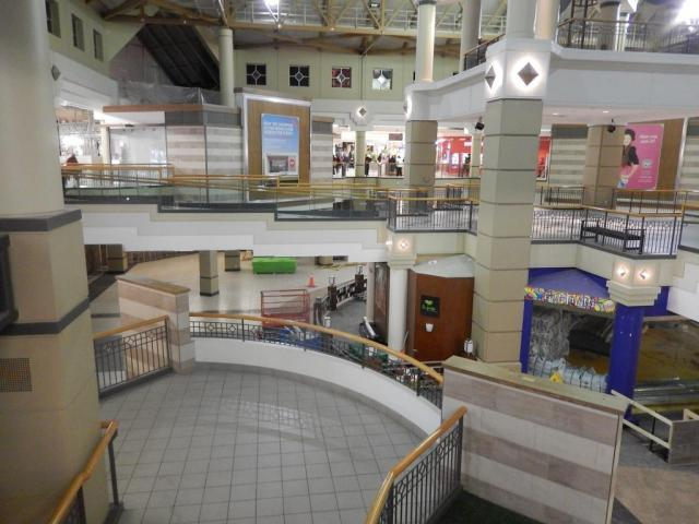 The central square at Erin Mills Town Centre is prepared for its makeover