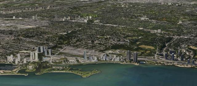 An overview of the Humber Bay Shores area, development current to summer 2012