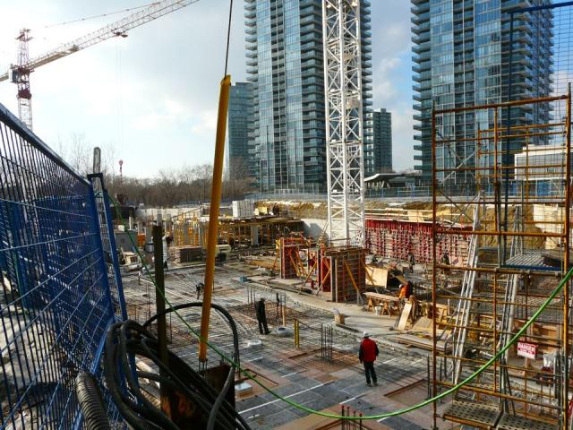 Construction proceeds on Key West's garage levels, Toronto