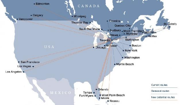 City of Toronto, Porter Airlines, Billy Bishop Airport, Waterfront, Routes