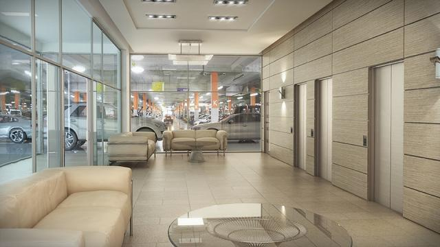 Parking Lobby, University Heights Professional Centre, image courtesy of the Rea