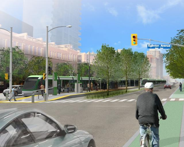Rendering of the Hurontario-Main LRT, image courtesy of Metrolinx
