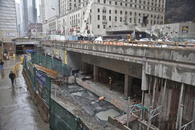 Union Station Subway TTC Front Street Revitalization Construction Toronto