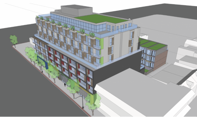 Rendering of 1327 Queen Street by Rockport Group and Trolleybus