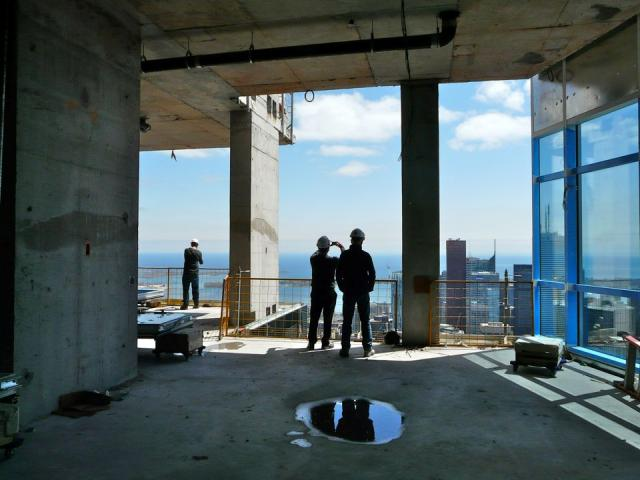 High ceilings will be one of the penthouse suite's hallmarks, Aura condos