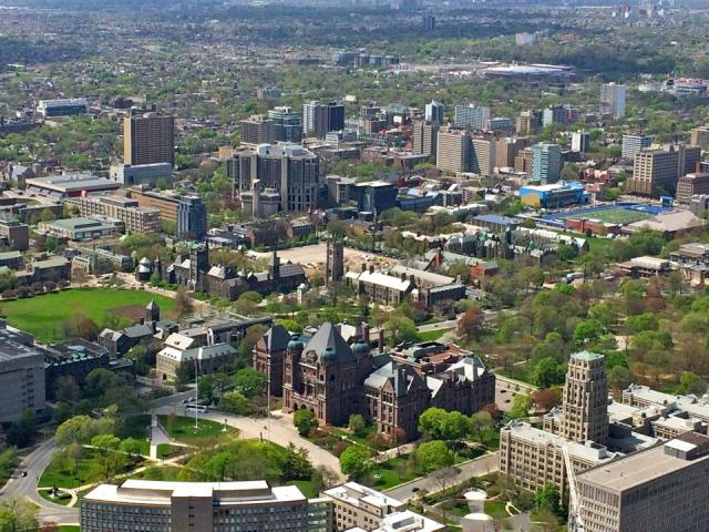 Queen's Park, the U of T, and the Annex area, image by Craig White