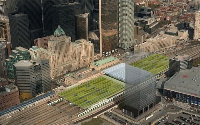 Rendering of the completed Union Station shed, Toronto, GO Transit, Metrolinx