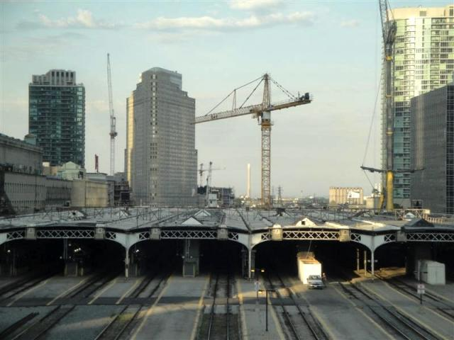 The Union Train shed at the beginning of the revitalization process, Toronto