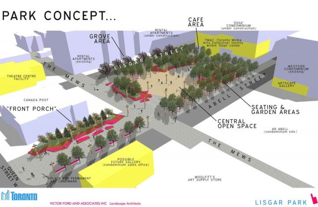 Concept Plan for Lisgar Park, image courtesy of Toronto Parks and Recreation