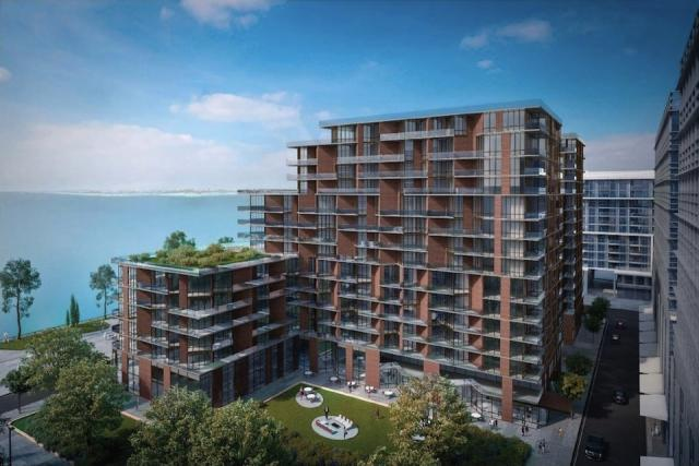 Early render of Aquavista's northeast side. Image by Waterfront Toronto.