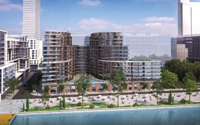 Early render showing the southern view of Aquavista. Image by Waterfront Toronto