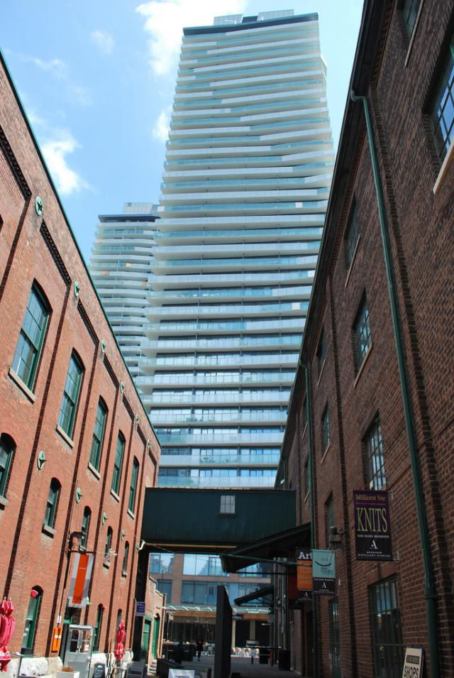 Clear Spirit Condos at the Distillery, design by architectsAlliance, Toronto
