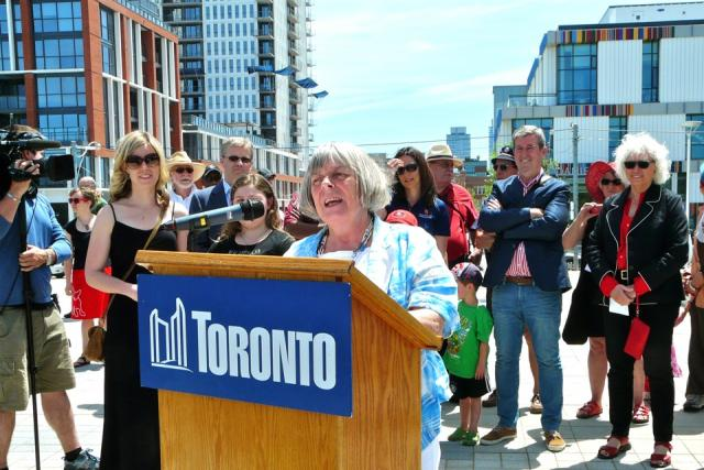 Councillor Pam McConnell at the Opening of Regent Park, Toronto