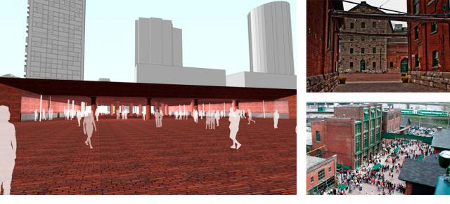 Red brick tunnel proposal by 3C, developers of a planned neighbourhood, Toronto