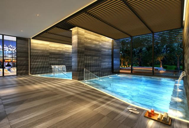 Amenities at 1 Yorkville, like the plunge pools, are by The Design Agency