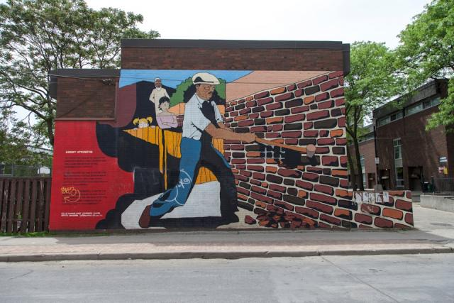 Sonny Atkinson's community building commemorated in an Alexandra Park mural