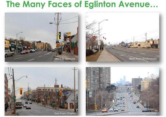 Eglinton offers a diverse range of streetscapes. Image by City of Toronto.