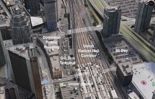 Various components of the combined site, image from Apple Maps