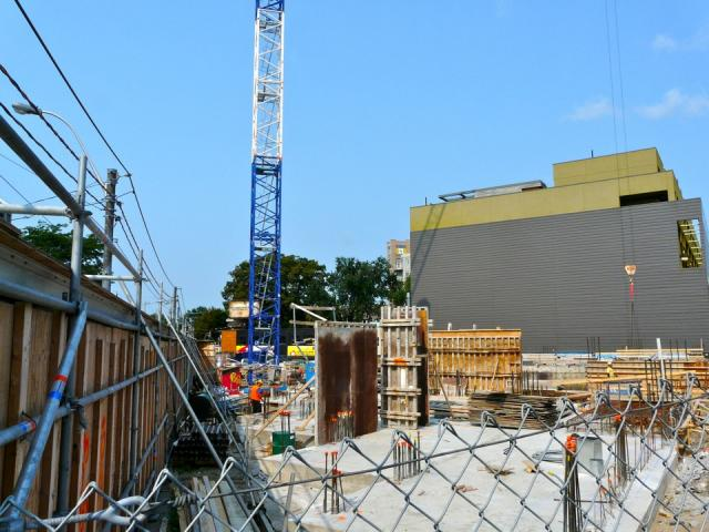 Construction of Phase 1 at Howard Park Residences, Toronto