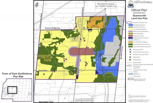 Queensville Map from the East Gwillimbury Official Plan