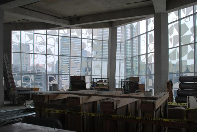Eighth floor study space, with views overlooking Yonge. Image by Marcus Mitanis.