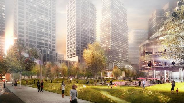 A new park on Wellesley west of Yonge will be built as part of Lanterra projects