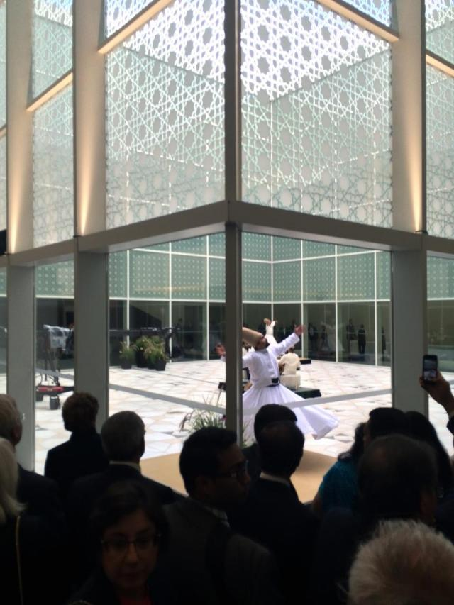 Whirling Dervishes perform after the opening ceremonies of the Aga Khan Museum,