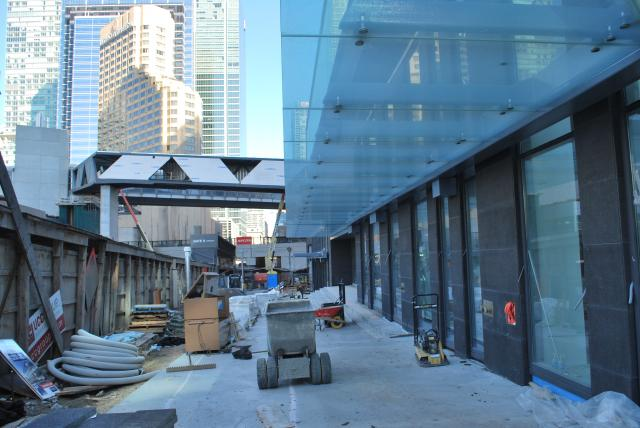 Looking north at PATH connection and west side of patio. Image by Marcus Mitanis
