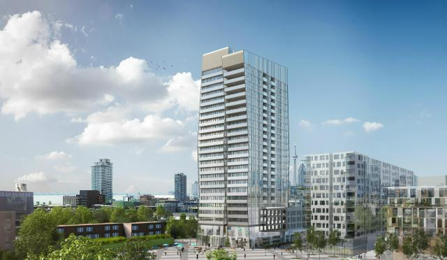 Proposed 24-storey point tower at Riverside Square. Image by Streetcar.