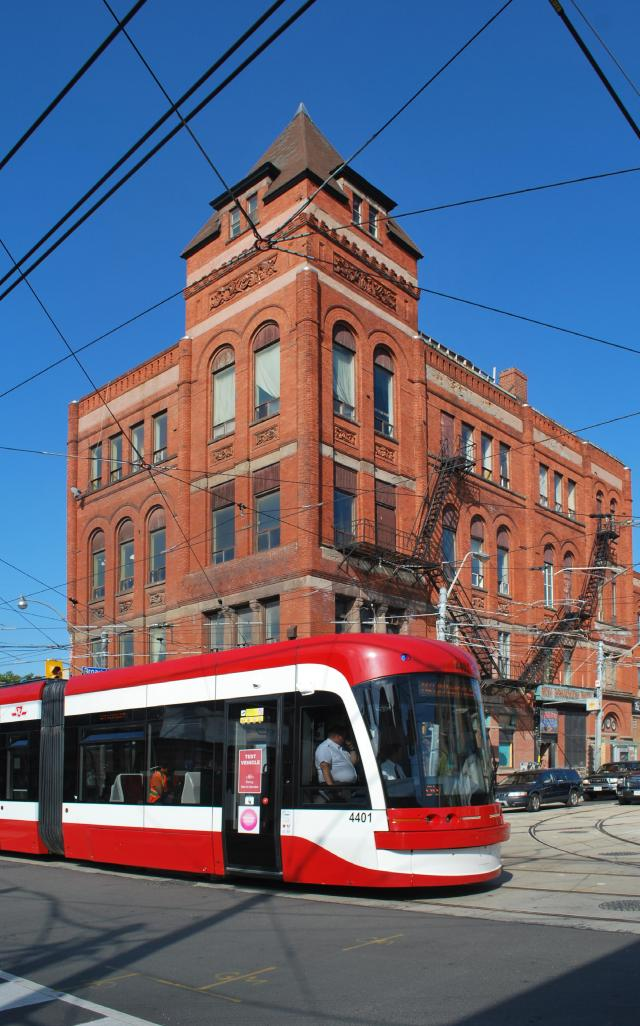 The former Broadview Hotel on Queen Street East. Image by Marcus Mitanis.