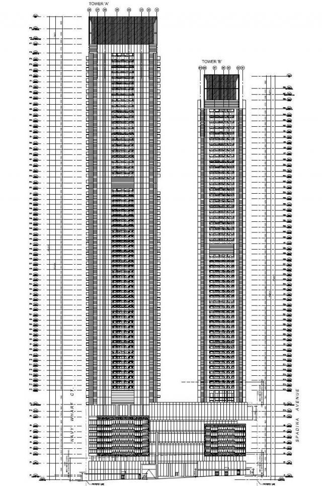 North elevation diagram, Signature Towers, Concord CityPlace