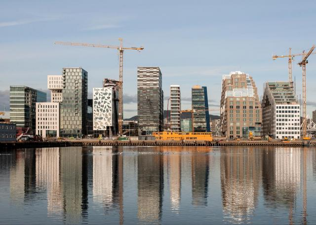 The Bjørvika Barcode development in Oslo, Norway, image courtesy of MVRDV