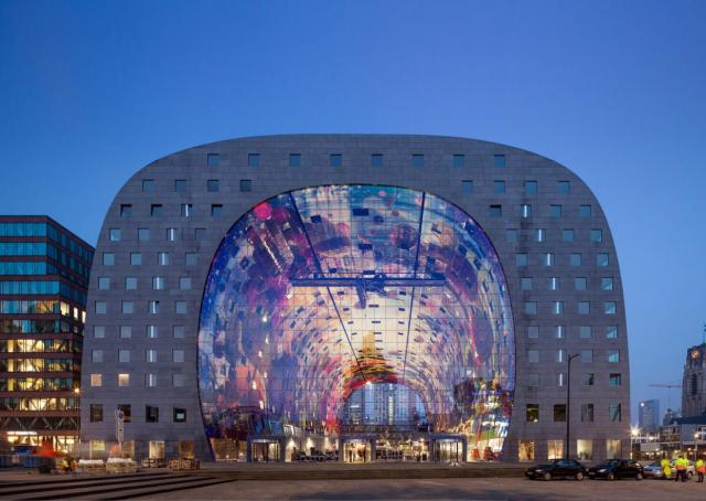The new Market Hall in Rotterdam, Netherlands, image courtesy of MVRDV