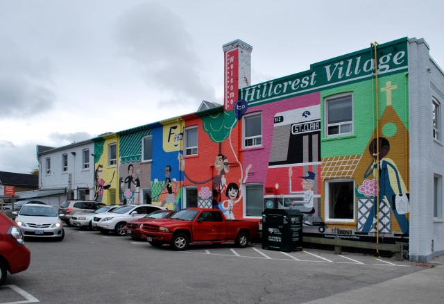 Hillcrest Village mural located east of The Nest Condos, image by Marcus Mitanis