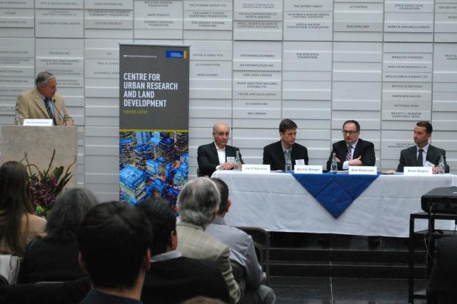 Discussion was held at Ryerson's engineering building, image by Marcus Mitanis