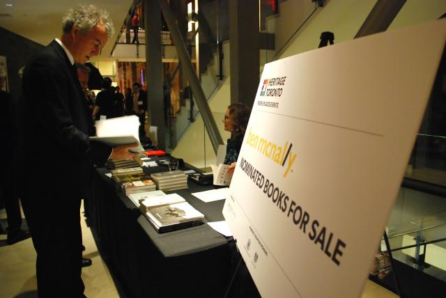 Nominated books were on sale outside the auditorium, image by Marcus Mitanis