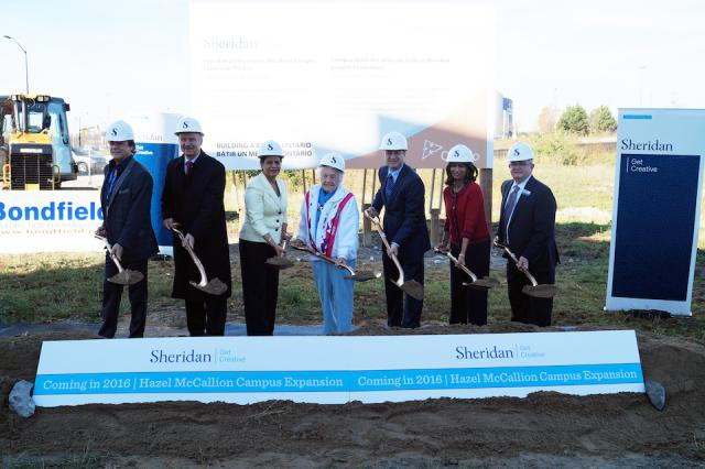 Mississauga politicians joined Sheridan College officials at the ground breaking