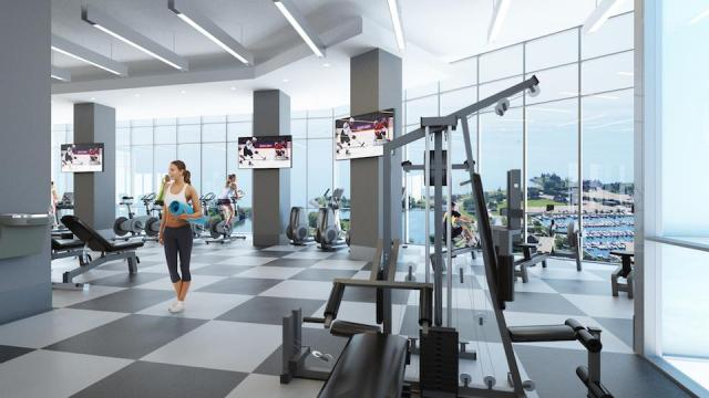 Club Encore Fitness Centre at Westlake Encore, image courtesy of the Onni Group
